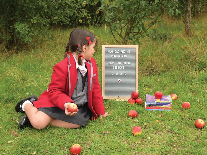 girl in a school uniform